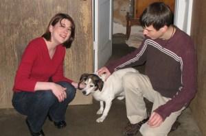 Courtney, Charlie and David, Christmas, 2008