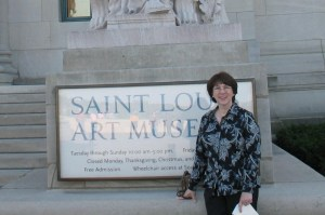 My last day in St. Louis -- still smiling, but looking worse for wear!